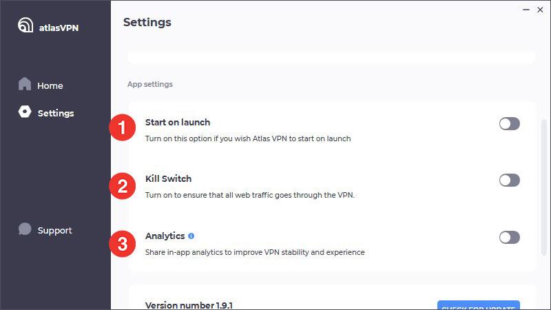 Atlas VPN 進階功能