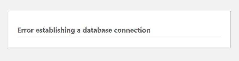 網站無法運作