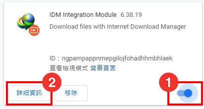 啟動IDM擴充功能