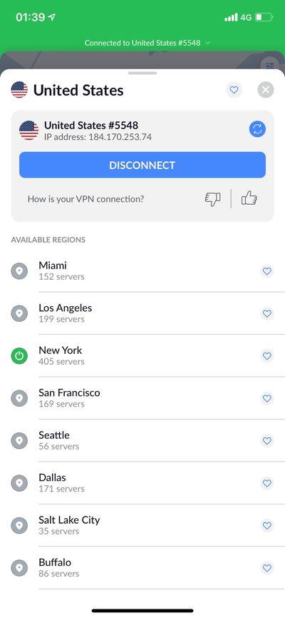 自由選擇城市伺服器節點