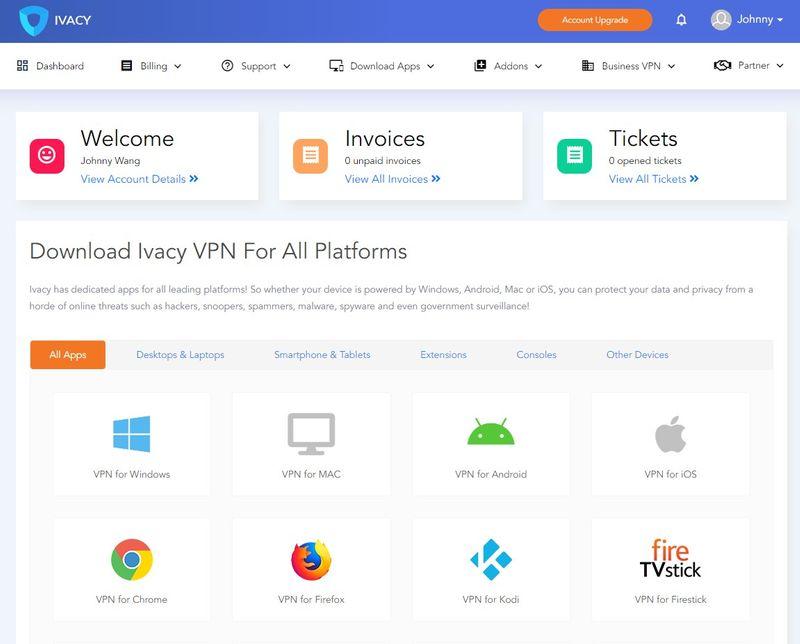 Ivacy VPN 後台